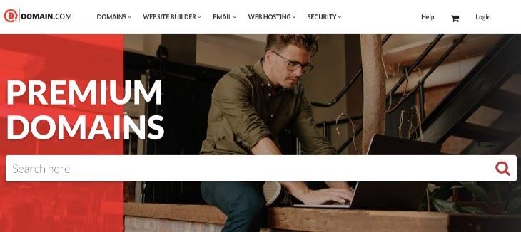 Domain.com offers a simplified premium domains marketplace