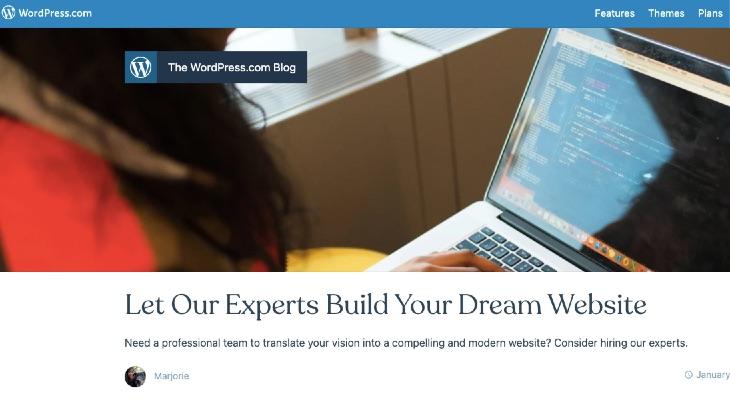 WordPress.com Launches New Website Building Service