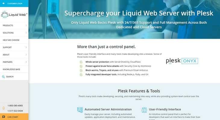 LiquidWeb Plesk Server
