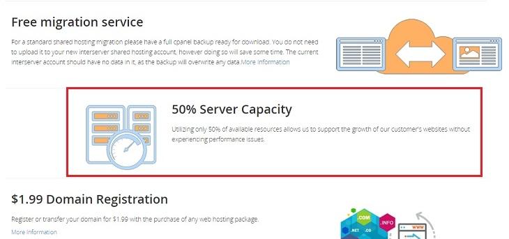50% server capacity