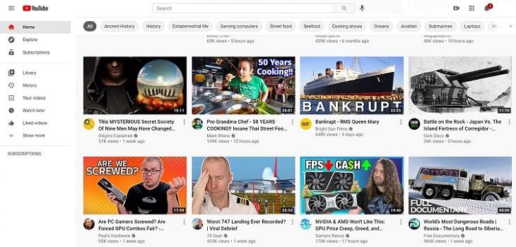 Video Hosting Platforms - YouTube